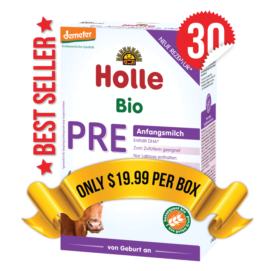 30 Boxes of Holle Stage PRE (400g)