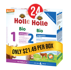 12 Boxes of Holle Stage 1 (400g) and 12 Boxes of Holle Stage 2 (600g)