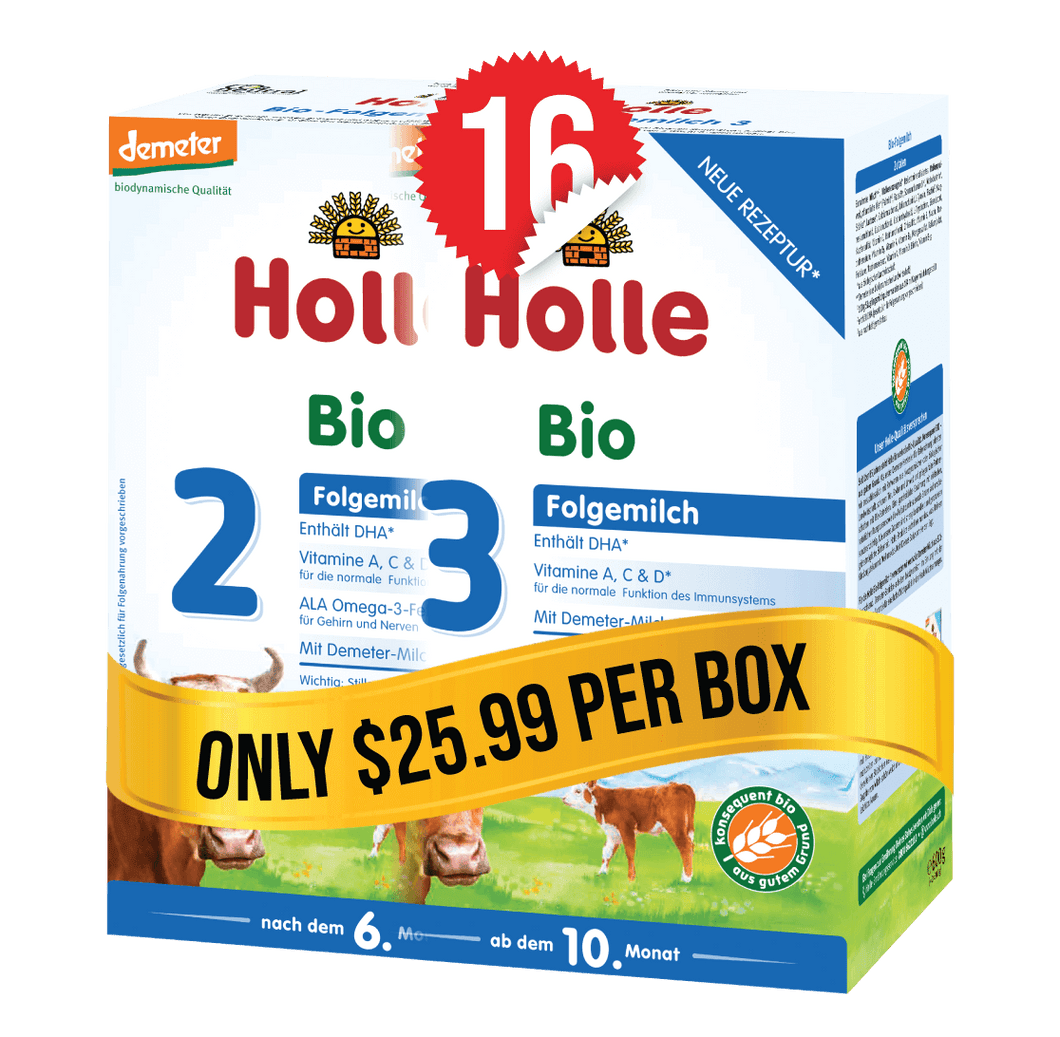 8 Boxes of Holle Stage 2 (600g) and 8 Boxes of Holle Stage 3 (600g)
