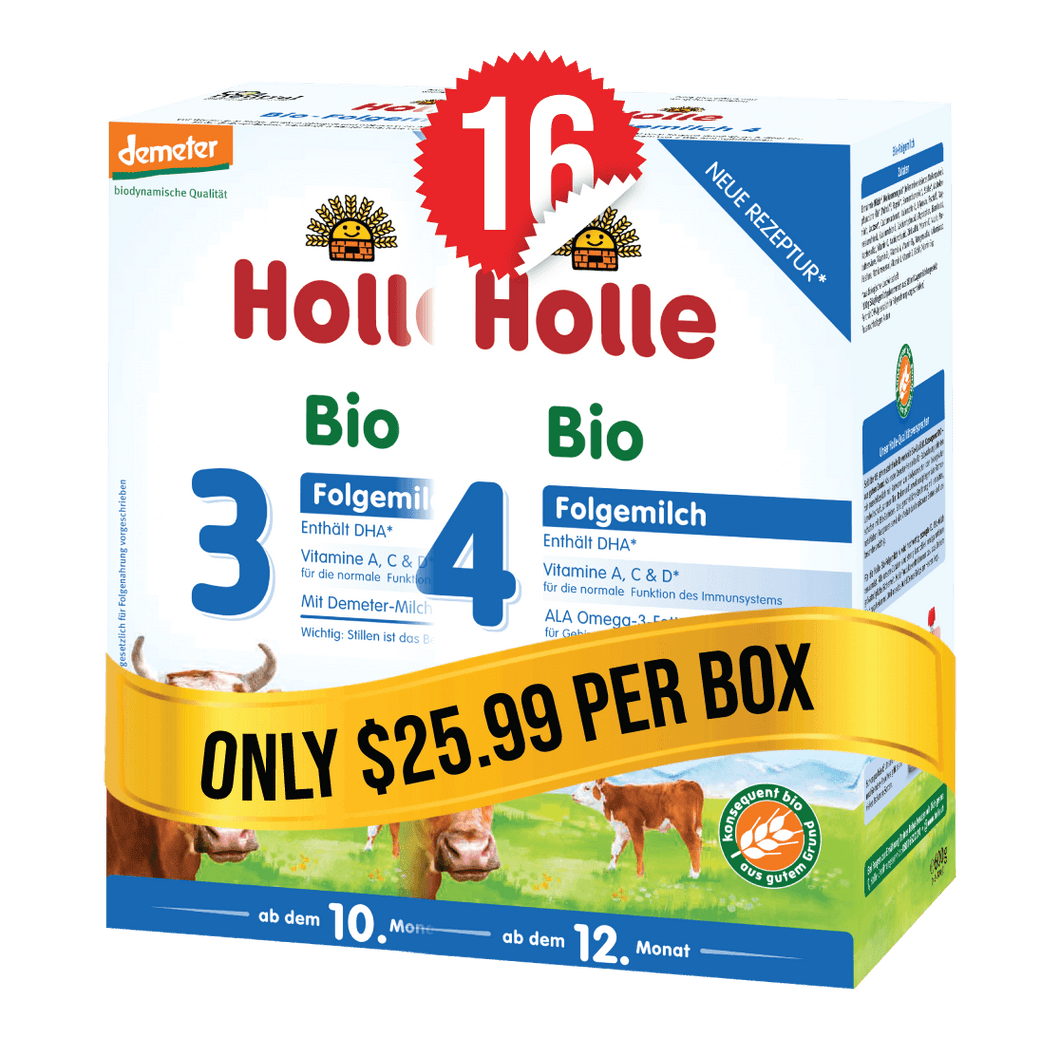 8 Boxes of Holle Stage 3 (600g) and 8 Boxes of Holle Stage 4 (600g)