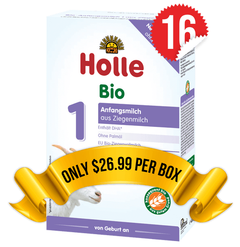 16 Boxes of Holle Goat Stage 1 (400g)