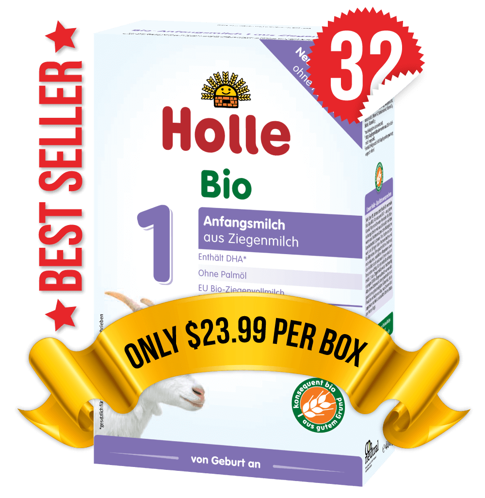 32 Boxes of Holle Goat Stage 1 (400g)
