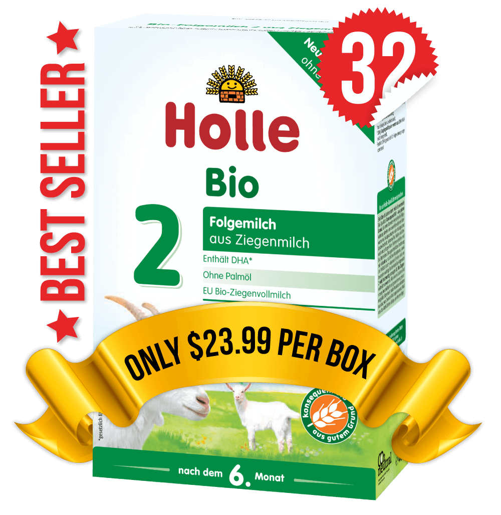 32 Boxes of Holle Goat Stage 2 (400g)