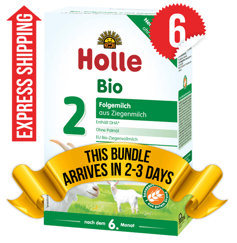 6 Boxes of Holle Goat Stage 2 (400g)