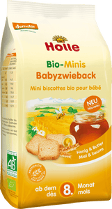 Honey & Butter Organic (Bio) Mini Baby Rusks (Zwieback) (100g)