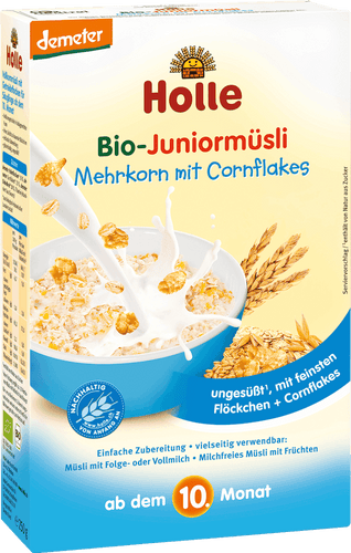 Organic (Bio) Junior Muesli Cereal: Multigrain with Cornflakes
