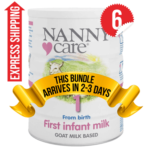 6 Tins of NANNYCare Stage 1 (900g)