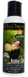 Baby Organic Baby Oil (Unscented) (4 fl oz)