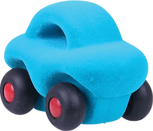 "Mini Turquoise Car on Wheels (4"")"
