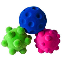 "Load image into Gallery viewer, 3 Pack of Small Stress or Fidget Balls (3 x 2.5"")"