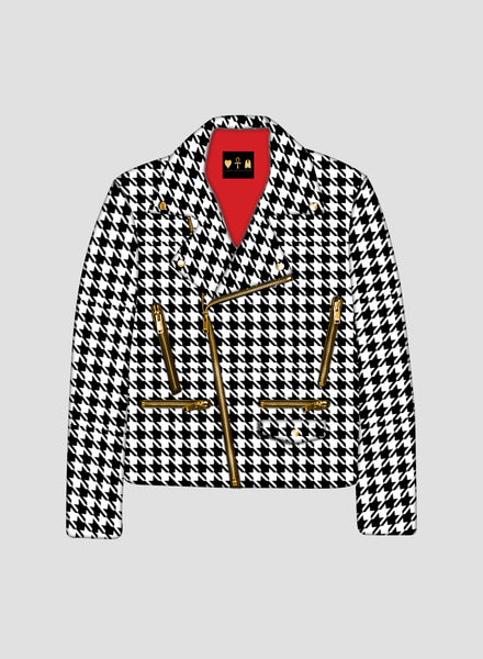 Houndstooth Cafe Jacket
