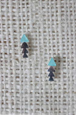 Colorblock Arrow Stud Earring