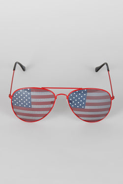 Stars and Stripes Aviator Sunglasses