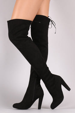 73c77e9a421 Wild Diva Lounge Suede Over The Knee Boots