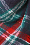 Multi Colored Plaid Blanket Scarf