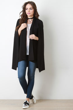 Starlet Shawl Collar Caped Blazer