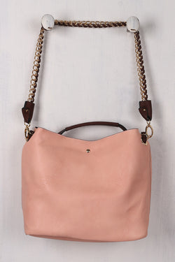 Chain Strap Two In One Wide Tote Bag
