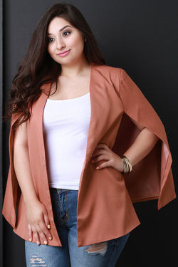 Open Front Batwing Cape Blazer
