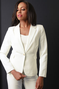 Textured Knit Blazer Jacket