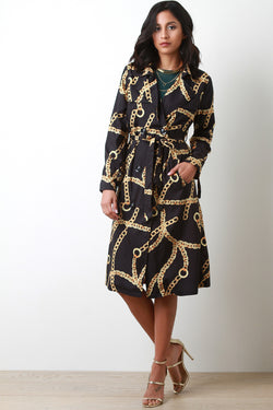 Chain-Linked Trench Coat