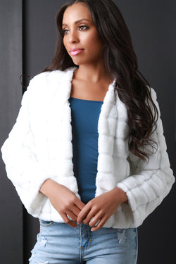 Quilted Faux Fur Jacket