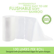Heart Felt Bamboo Cloth Diaper Liner Inserts - 100 Sheets