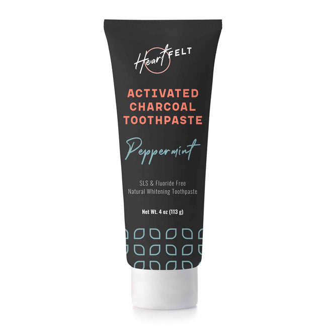 Fluoride Free, Natural Whitening Charcoal Toothpaste by HeartFelt
