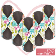 Heart Felt Bamboo Reusable XL Cloth Menstrual Pads (5 Pack, Heavy Flow)
