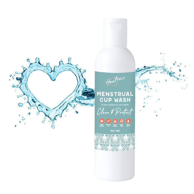 Menstrual Cup Wash Cleaner by HeartFelt. All Natural, Plant Based, Non Allergenic.
