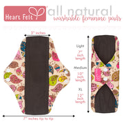 Heart Felt Bamboo Reusable XL Cloth Menstrual Pads (3 Pack, Heavy Flow)