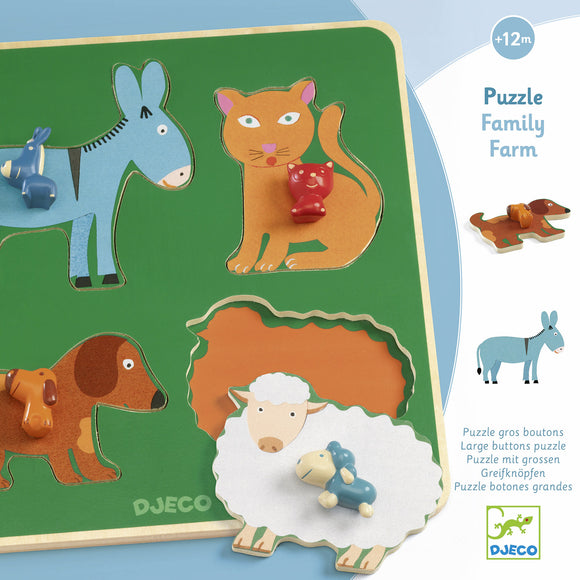 DJECO - PUZZLE FAMILY FARM