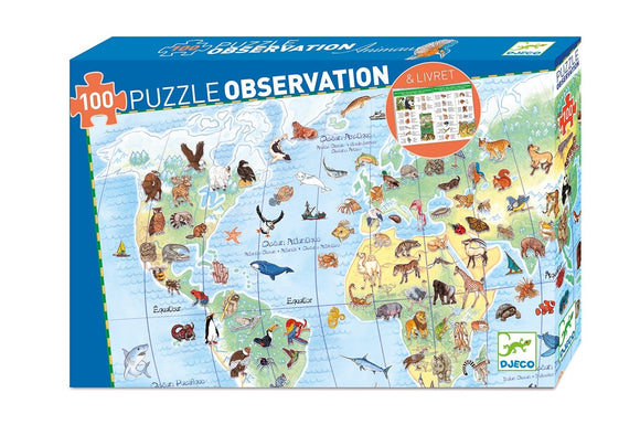 DJECO - PUZZLE OBSERVATION: ANIMAUX 100MCX