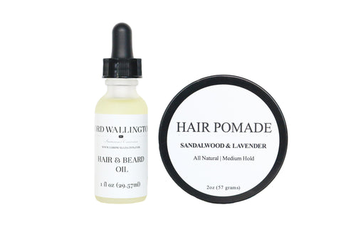 Hair & Beard Oil, Pomade Set
