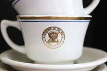 Vintage Navy Officer Mess Coffee Mug and Saucer