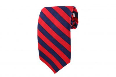 Navy & Red Striped Tie