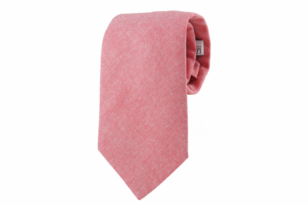 Red Chambray Tie