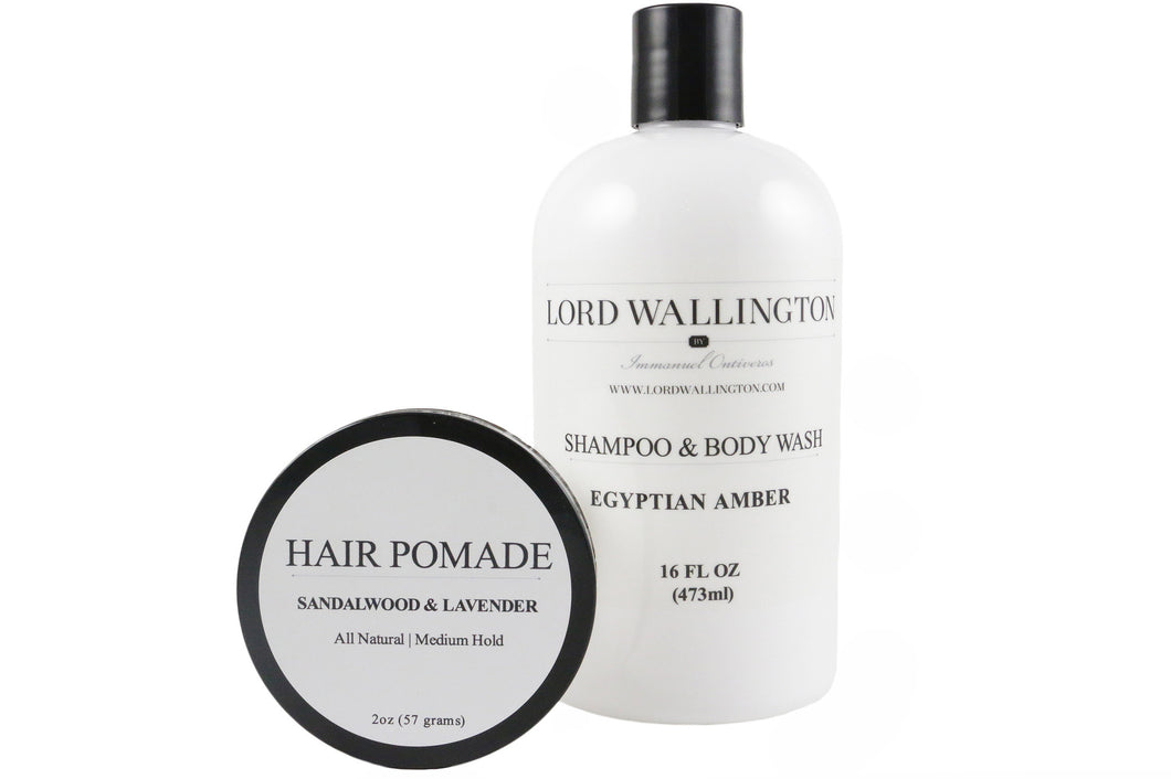 Grooming Set-Pomade and Shampoo & Body Wash
