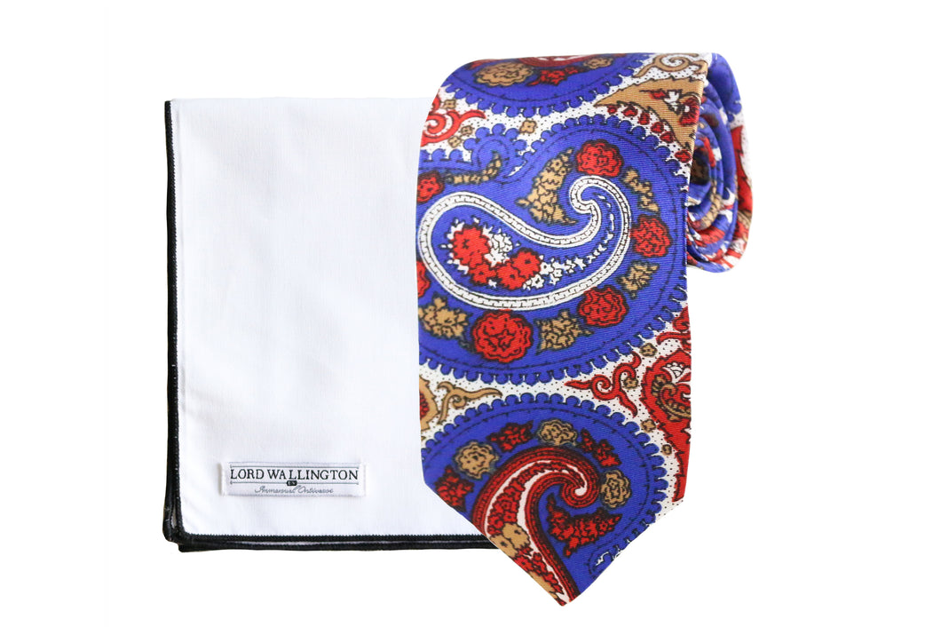 Multi-Colored Paisley Tie & Square Set