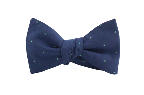 Blue & Green Dot Bow Tie