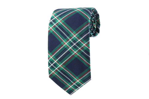 Green Plaid Tie