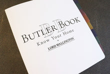 Home organization workbook, Butler Book by Lord Wallington for home maintenance and organization