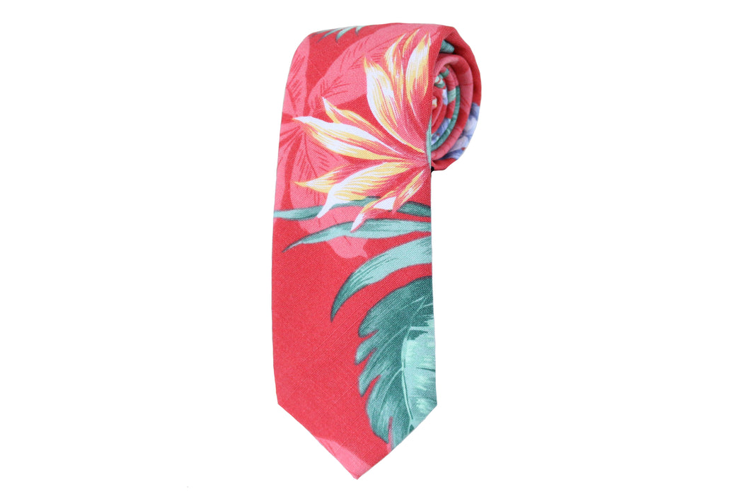 Pink Tropical Tie