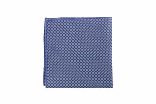 Tipped Morocco Blue Geometric Pocket Square