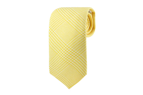 Yellow Glen Plaid Tie