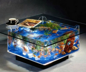 25 Aqua Gallon Square Coffee Table