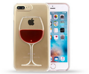 IPhone Liquid Red Wine Case