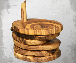 Natural Olive Wood Coasters (5 pack)