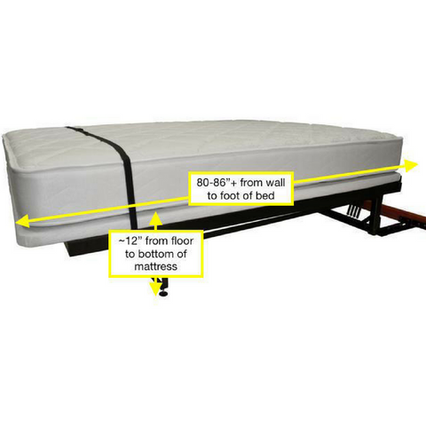 Murphy Bed Frame Dimensions When Down