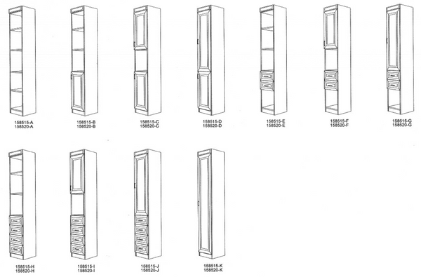 Side Cabinet Configurations for Your Murphy Bed