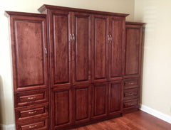 A Custom Wood Stained Daytona Panel Bed